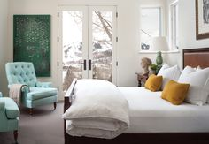 From Colorado Homes and Lifestyles, photographed by Emily Minton Redfield #bedroom