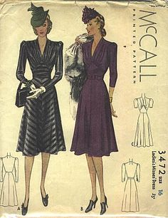 McCall 3472 (1939) // This, in jersey knit. Do want.