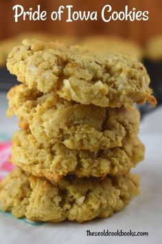 Oatmeal Coconut Cookies, Soft Chocolate Chip Cookies, Oatmeal Cookie Recipes, Easy Cookie Recipes, Cookie Desserts, Just Desserts, Bar Recipes, Cookie Cakes, Crack Crackers