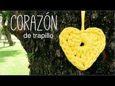 CORAZÓN de trapillo a crochet (ENGLISH SUBS!) - TUTORIAL, My Crafts and DIY Projects