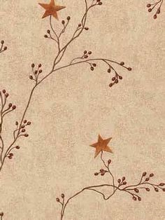 Crackle Star and Pip Berry Vine Wallpaper