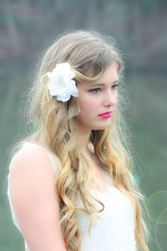 bridal accessories Flower for hair Bridal hair by serenitycrystal
