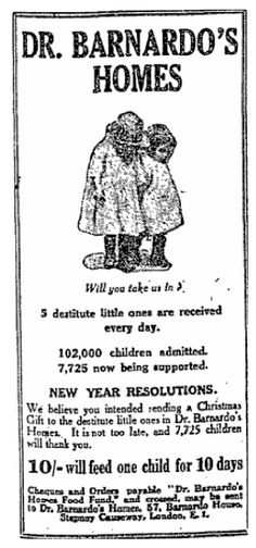 Barnardo's. 7 January, 1927. Yep, 1927. Direct response ads haven't changed since. Amazing.