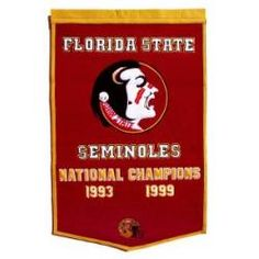 Florida State Seminoles Large Dynasty Wool Banner with Hanging Rod