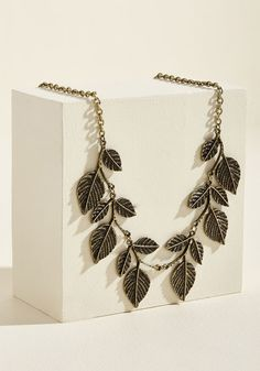 Leaf in a Hurry Statement Necklace