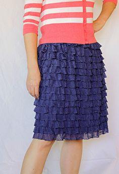SO CUTE! Womens Ruffle Skirt