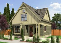 Cozy and Charming Bungalow With a Loft: Compact design suitable for vacation home or small lot year round living.House Plan No.333111 House Plans by WestHomePlanners.com