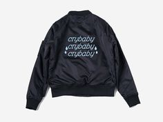 ◊ Crybaby Bomber Jacket ◊ ▫ Polyester and cotton blend ▫ Shoulder 43 cm ▫ Bust 110 cm ▫ Length 62 cm Care Instructions: Hand wash, hang to dry Item shows typical signs of wear which may include minor