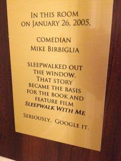 At La Quinta Inn, in Walla Walla, Washington...   This American Life and Mike Birbiglia