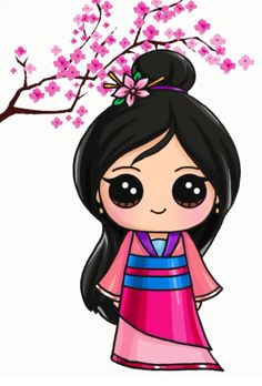 - Picture Tutorial and Ideas Kawaii Girl Drawings, Cute Animal Drawings Kawaii, Cute Cartoon Drawings, Cute Disney Drawings, Cute Easy Drawings, Disney Princess Drawings, Cute Girl Drawing, Disney Princesses, Disney Characters