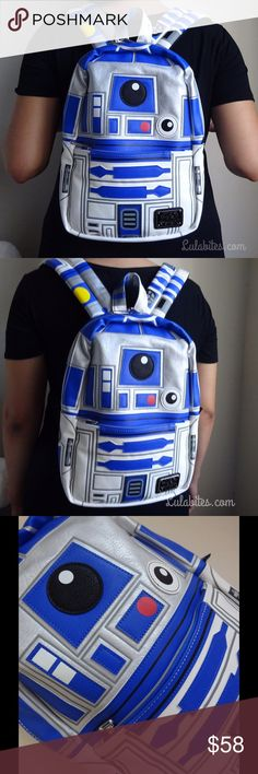 """R2D2 Mini Backpack New mini backpack by Star Wars x loungefly. Faux leather trim.  Approx. 9"""" x 13"""" Simulated leather. Star Wars Bags Backpacks"""