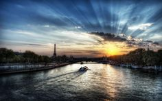 sunset Paris