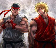 Ryu & Ken, Street Fighter.