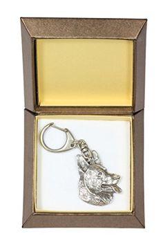 NEW, German Shepherd, dog keyring, key holder, in casket, limited edition, ArtDog -- Click on the image for additional details.