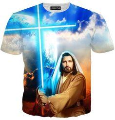 Star Wars Cross Lightsaber Jesus Hoodie - Funny Hoodies Clothing
