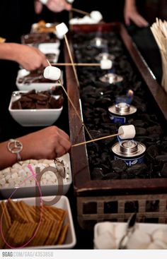 Refreshment Idea: S'Mores Bar! Students would LOVE this!