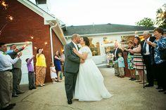 Wedding getaway with daytime sparklers