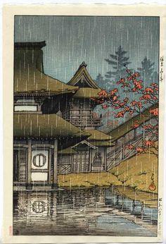 Kawase Hasui, Yamano Tera, Sendai, 1933 http://aleyma.tumblr.com/post/3532717930/kawase-hasui-yamano-tera-sendai-1933-source
