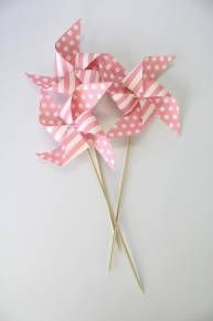 Robert Gordon Paper Windmills (Set of 6) - Pink Romance