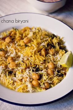 chole biryani recipe made easy with step by step photos. aromatic, spiced and delicious dum cooked layered chana biryani recipe. if you like chole and biryani, then you will like this biryani with chana too. Veg Recipes Of India, Indian Food Recipes, Vegetarian Crockpot Recipes, Cooking Recipes, Rice Recipes, Recipies, Paneer Recipes, Biryani Recipe, Desi Food