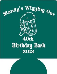 Lot 12 personalized Birthday koozies by odysseycustomdesigns, $29.99