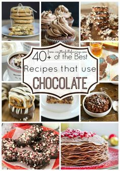 Did someone say chocolate? Yes, chocolate! Pick from a variety of the BEST recipes using chocolate! With the holidays coming up, thinking about Christmas desserts, Halloween treats, and holiday treats with these chocolate dessert ideas! Pin it to your boa