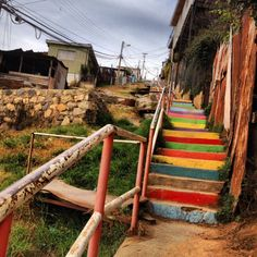 8 Things To Do In Valparaiso Colorful stairs #Chile #Valparaiso #travel