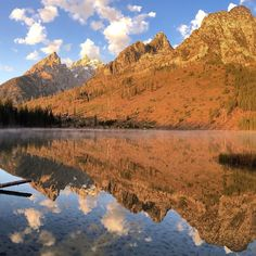 Sunrise at String Lake Grand Teton National Park Wyoming. Panorama 2 of 3. To see the entire image go to my profile page on Instagram. @natgeo @natgeocreative #nature #iphone by jimrichardsonng