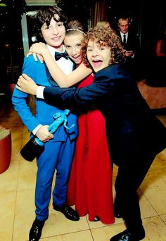 Finn Wolfhard, Millie Bobby Brown, and Gaten Matarazzo of Stranger Things at the 2017 Screen Actors Guild Awards after party. Serie Stranger Things, Stranger Things Have Happened, Stranger Things Quote, Stranger Things Aesthetic, Stranger Things Netflix, Photos Des Stars, Millie Bobby Brown, Series Movies, Best Shows Ever