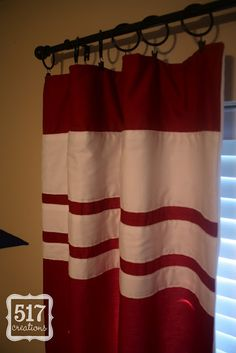 517 creations: curtains for the boy's room. Boys Room Curtains, Home Curtains, Bedroom Red, Teen Bedroom, How To Make Curtains, Window Coverings, Window Treatments, Boy Room, Home Decor Accessories