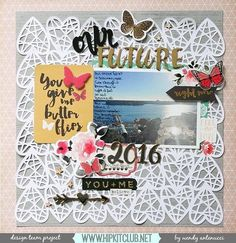 Designer @wantenucci is up on our Hipkit FB page with this gorgeous LO using the #january2016 kits featuring @cratepaper @mymindseyeinc @heidiswapp  exclusive cut files by @ashleyhorton75  #hipkits #hipkitclub #scrapbook #scrapbooklayout #january2016 #papercrafting