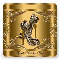 Negro elegante y 50.a fiesta de cumpleaños del oro invitacion personal