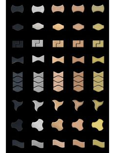Karim Rashid's got a thing for patterns, as evidenced in his new line of metal tiles for Australian manufacturer Alloy. Punched from individual sheets of 1.6mm stainless steel, copper, brass, titanium and raw steel,
