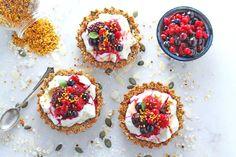 Granola Crust Breakfast Tarts with Yogurt & Berries Recipe Breakfast ...