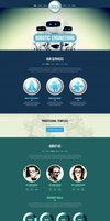 BIg one page web design great for portfolio site.