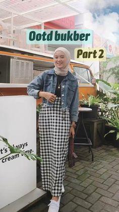 Casual Hijab Outfit, Ootd Hijab, Casual Outfits, Fashion Outfits, Hijab Style Tutorial, Borobudur, Hijab Fashion Inspiration, Simple Outfits, Korean Fashion