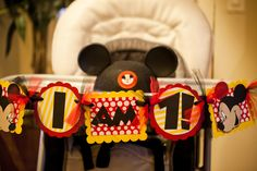 Party Banner at a Mickey Mouse Party #mickeymouse #partybanner