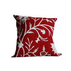 Crewel work throw pillows, Crewel work fabric