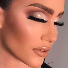 Makeup On Fleek, Love Makeup, Makeup Looks, Sexy Makeup, Anastasia Beverly Hills, Blue Dress Makeup, Dramatic Look, Vogue, Wedding Decorations