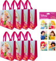 Tinkerbell Tote Bags Woven Reusable) AND a Rare Disney Princess Stickers Set ---- Tinkerbell Disney Fairies Party Supplies and Favors for Kids Tinkerbell Disney, Disney Fairies, Disney Princess, Spy Kids Party, Kids Party Supplies, Cabbage Patch Kids, Spongebob, Birthday Decorations, Tote Bags