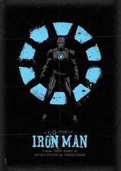 Iron Man poster   By: Daniel Norris, via Design You Trust