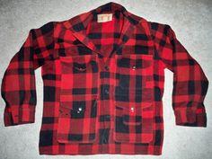 Vintage CC Filson Union Made in USA Mackinaw Men's Wool Coat Size 42