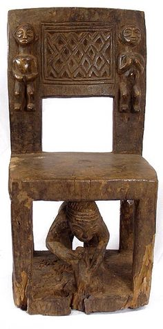 Africa | Chokwe Chief's Chair, Angola or the DR Congo. Wood | mid 20th century.