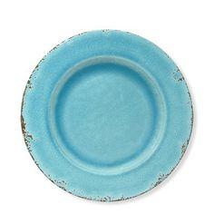 Rustic Melamine Salad Plates Set of 4 #williamssonoma  sc 1 st  Pinterest & Five Coastal Melamine Plates by Target Beautiful Swirling Blue ...