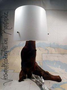 """Tischlampe """"Apfel"""" von Kantholz Kunsthandwerk auf DaWanda.com"""