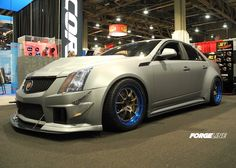 Richard's wide body CTS-V sedan by D3Cadillac is built for serious track duty. It was chosen by GM High Tech Performance Magazine as one of the coolest GM cars at SEMA, thanks in part to these Forgeline GA3R wheels finished with Transparent Smoke centers and Transparent Blue outers. See more at: http://www.forgeline.com/customer_gallery_view.php?cvk=957  #Forgeline #GA3R #notjustanotherprettywheel #Cadillac #CTSV #SEMA2013