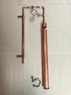 "DIY Beer Keg Kit 2"" Copper Pipe Moonshine Pot Still Distilling Column Tri Clamp | eBay Copper Moonshine Still, Column Still, Copper Still, Beer Keg, Pot Still, Home Brewing Beer, Milk Cans, Clamp, Door Handles"