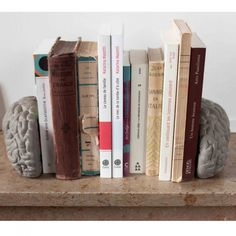 Concrete Gray Matters Bookends