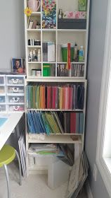 I think it's time for a craft room update. A few months ago, we had the great 'domino effect' furniture move. My son needed a desk, so we mo. Craft Room Organisation, Craft Room Storage, Storage Ideas, Scrapbook Storage, Scrapbook Organization, Craft Room Tables, Craft Rooms, Woman Cave, Shabby Chic