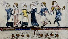 Dancer. Flemish 1338-44 (margin) Bodl Lib 264.